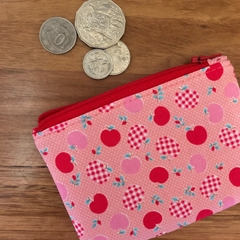 Coin purse - pink apples