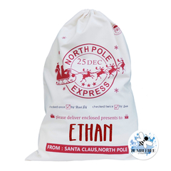 North Pole Express - Santa Sack - Christmas Present Bag