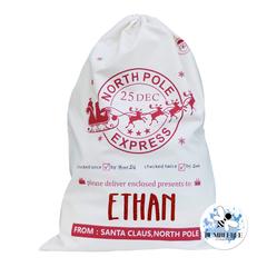 North Pole Express - Santa Sack - Christmas Present Bag