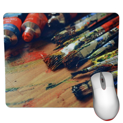 Artist Paints Mouse Pad - Painter Mouse Pad
