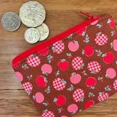 Coin purse - brown apples