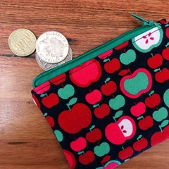 Coin purse - retro apples
