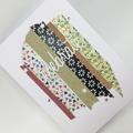 Congratulations Card - Celebrate! Colourful Washi Tape