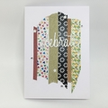 Congratulations Card - Celebrate! Colourful Washi Tape