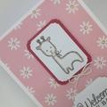 Baby Card - Baby Animal, Giraffe