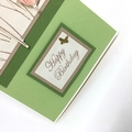 Birthday Card - Tulips on Green