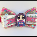 LOL Surprise doll, superhero hair bow  elastic.