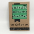 Thank You Card - Kraft, Green and Black