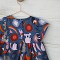 Cotton summer dress, girls dresses,