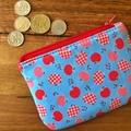 Coin purse - blue apples Pre- order: teacher's gift