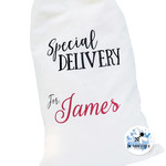 Christmas Present Gift Sack - Special Delivery - Not a Santa Sack Xmas Gift Bag