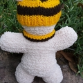 Knitted Teddy Bear with Hat & scarf in AFL or any other team colours.