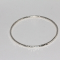 Solid Sterling Silver 3mm Hand-forged bangle.