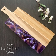 Purple Resin Art Serving Board