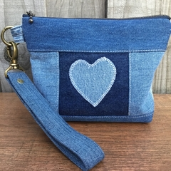 Upcycled Blue Denim Pouch