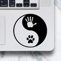 LAPTOP DECAL - Yin Yang Hand & Paw