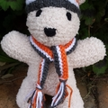 Richmond Tigers or Greater Western Sydney Giants, Teddy Bear with Hat & scarf