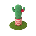 Crochet Cactus with Red Flowers