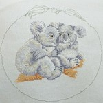 """Koala Cuddles"" -Unmounted Cross Stitch"