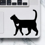 LAPTOP DECAL - Cat Walking - Shorthair Cat Vinyl Decal