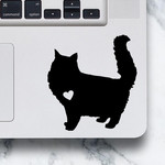 LAPTOP DECAL - Fluffy Cat - Long Hair Cat