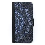 Black & Blue Mandala Wallet Phone Case - for iPhone & Samsung Galaxy phones
