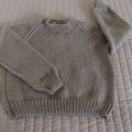 SIZE 3(+ ) yrs - Hand knitted: Acrylic, Washable, boy