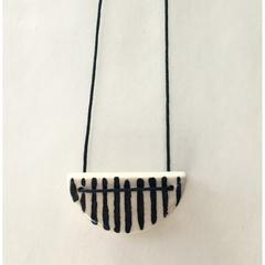 Ceramic Semi circle Necklace