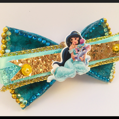 DISNEY PRINCESS  Jasmine, Hair bow comes as a beautiful hair clip