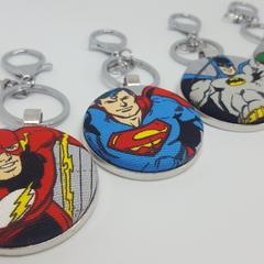 Superhero bag tags/keyrings