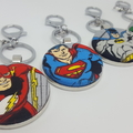 Superhero bag tags/keyrings