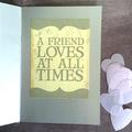 'Hello' Friendship Card on Silver