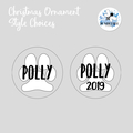 Pet Xmas Bauble Personalised Dog Christmas  Decoration. Name Keepsake Designs