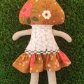 Sweet Mushroom girl doll.