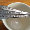 Tea Lovers Gift Set Stamped,Teaspoon, spoons, teacup, tea, spoons, custom, nana,