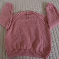 SIZE 4 -5 yrs - Hand knitted jumper: washable, OOAK, girl