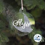 Xmas Glitter Mermaid Bauble Personalised Christmas  Decoration  Keepsake 2019