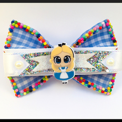 ALICE, in Wonderland Hair Bow comes as a beautiful hair clip.