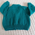 SIZE 2 - 3 years; knitted cardigan, washable, unisex