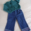 SIZE 2 - 3 years; knitted cardigan, washable, unisex