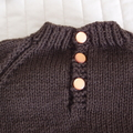 SIZE 2 yrs Hand knitted jumper - washable, boy, brown,