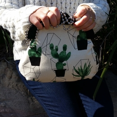 Cactus Handbag with shoulder chain