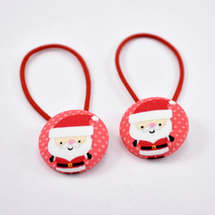 Santa Hair Ties - Red