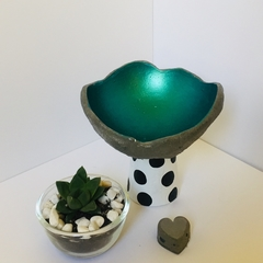 Small Metallic Mint Green Orb on a Stand