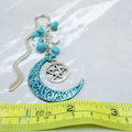 Blue Moon and Pentagram Bookmark