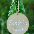 Wooden Christmas bauble -personalised