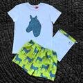 Lime Zebra PJ set