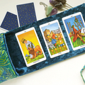 Blue Velvet Tarot Bag and Reading Cloth - Lenormand Card Holder