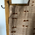 Tote and pouch set, mustard oatmeal Indian cotton,Tassel detail, mustard linen l