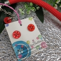 Beating Heart - Red Button Fusion Necklace - Button Jewellery - Earrings
